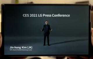 "LG、画面が""のびる""巻取り式スマホ「LG Rollable」を発表"