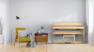 ローランド、インテリアに馴染みやすいデザインのデジタルピアノ「F701」を発売