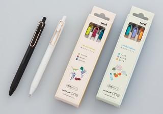 三菱鉛筆、uni-ball oneよりローズゴールドクリップと春・夏カラー3色セットを発売