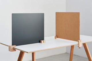 好きな土台やパネルを組み合わせて使える卓上パーティション「SASAUシリーズ」が登場