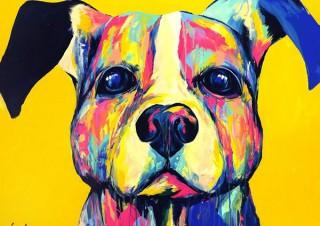 愛犬をカラフルかつポップに描いてもらえる展示会「EIJI TAMURA DOG ART展」