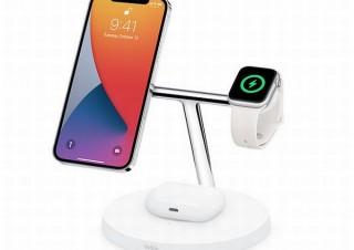 ベルキン、Apple3製品を同時充電できる「ワイヤレス充電器」発売