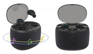 ゲオ、充電ケースがスピーカーにもなる完全ワイヤレスイヤホンを発売