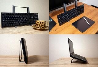 上海問屋、タブレットでもノートパソコンでもキーボードでも使えるスタンドを発売