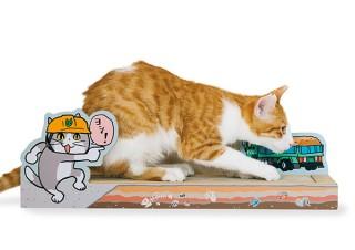 フェリシモ、ヨシ!と安全確認する仕事猫デザインの猫用つめとぎを発売