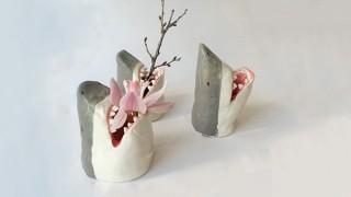 ヴィレヴァン、花瓶や食器など陶器製のサメグッズを発売