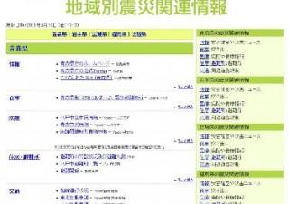 ヤフー、東日本大震災の県ごとの情報をまとめた「地域別震災関連情報」ページ公開
