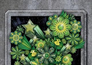 Photoshopプロセスノート/ユニークな質感が目をひく立体的な花のビジュアル