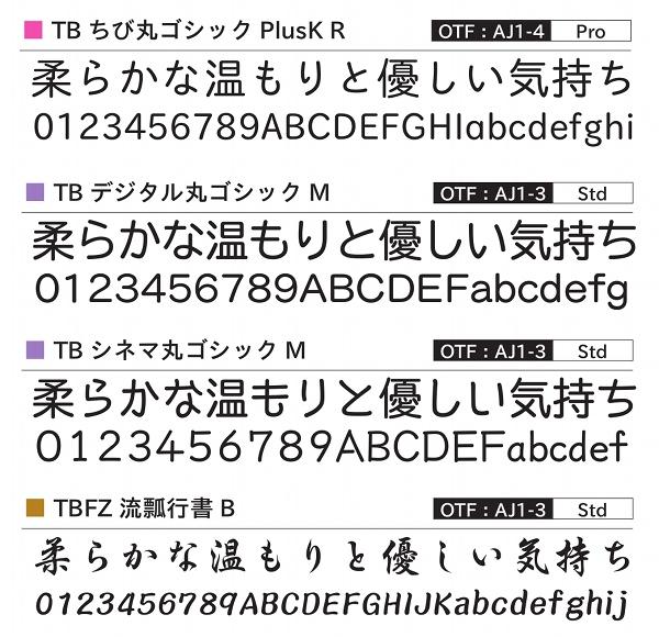 フォントワークスとタイプバンク、「タイプバンクLETS」会員向け