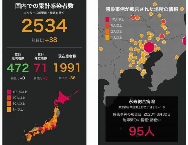 全国 コロナ 感染 者 マップ 新型コロナウイルス 日本国内の最新感染状況マップ・感染者数(7日0時時点)