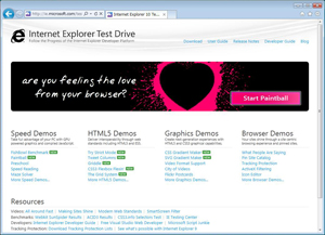 Internet Explorer Test Drive