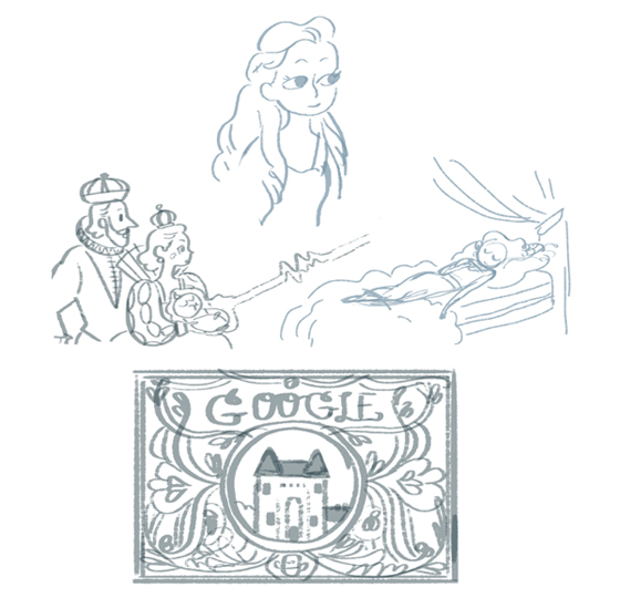 Sketches for the doodle by artist Sophie Diao