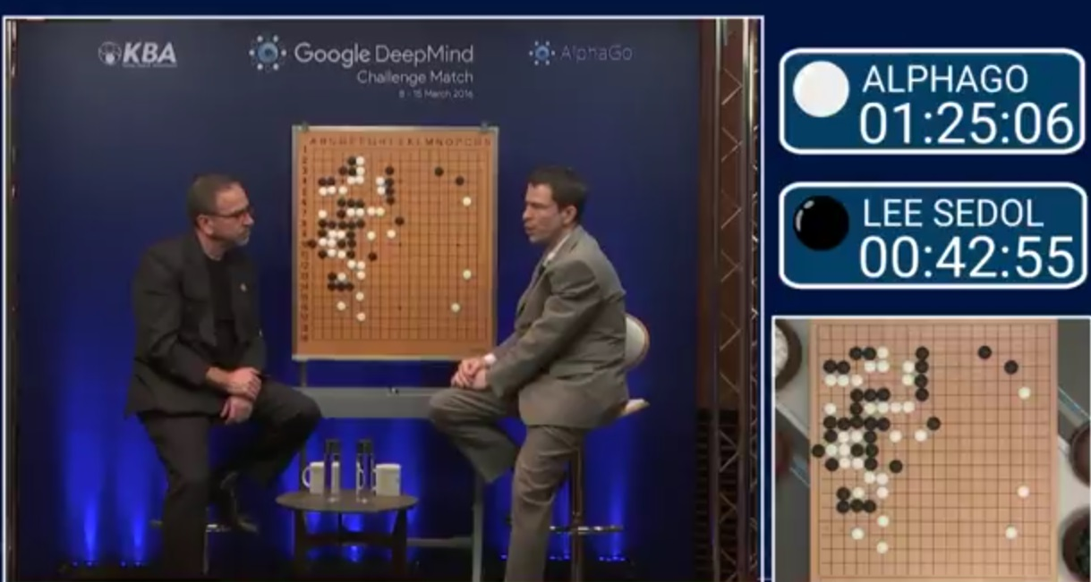 Match 3 - Google DeepMind Challenge Match: Lee Sedol vs AlphaGoより