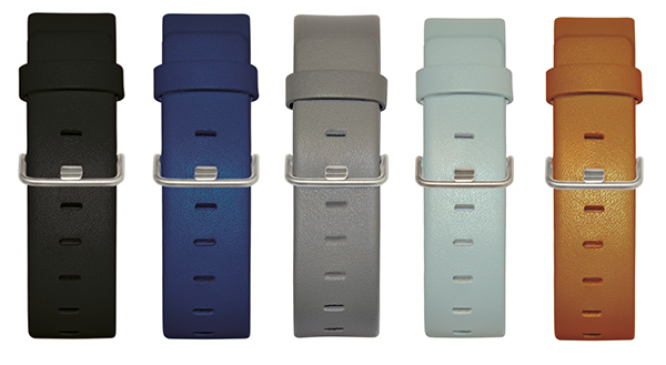 (左から)STRAP BLACK、STRAP BLUE、STRAP GREY、STRAP LIGHT BLUE、STRAP TAN