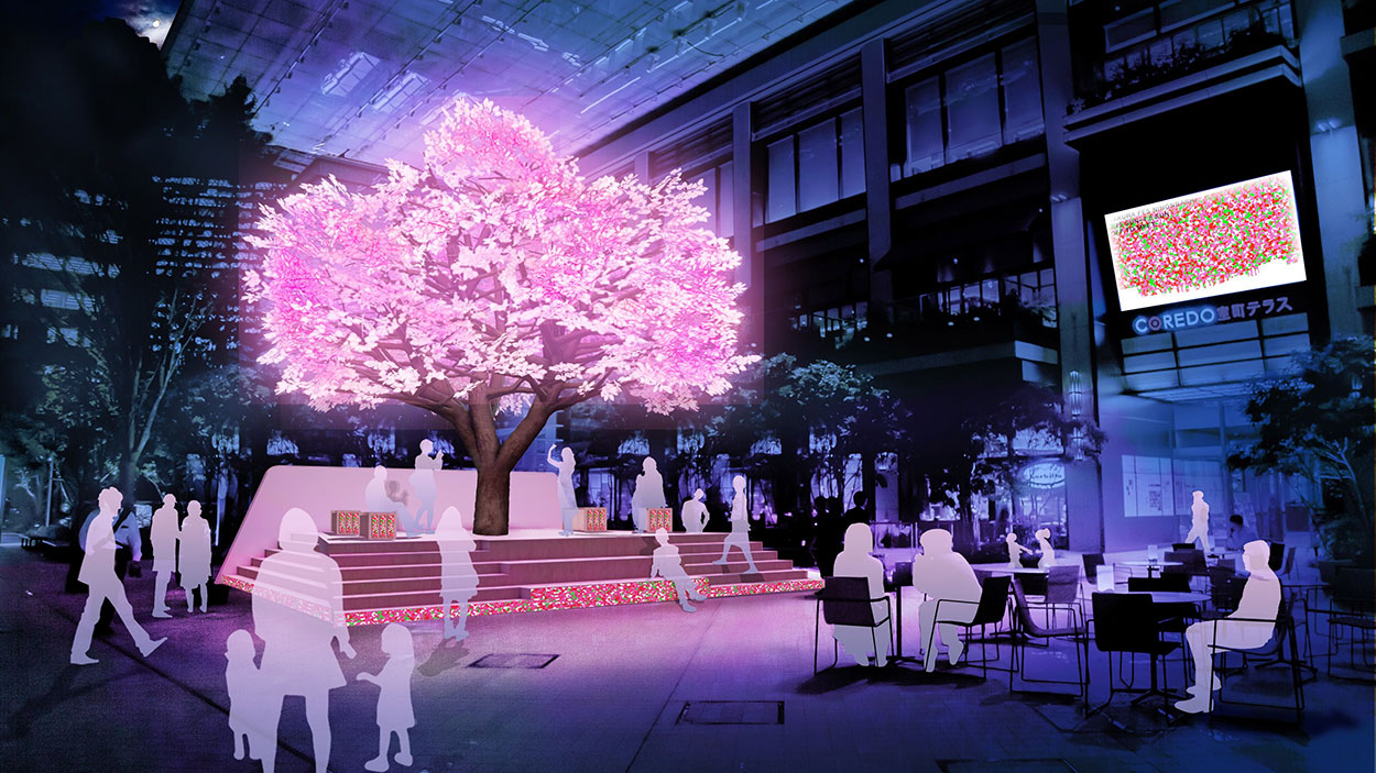 SAKURA FES NIHONBASHI/OFF TO MEET「The Tree Of Light-灯桜-」